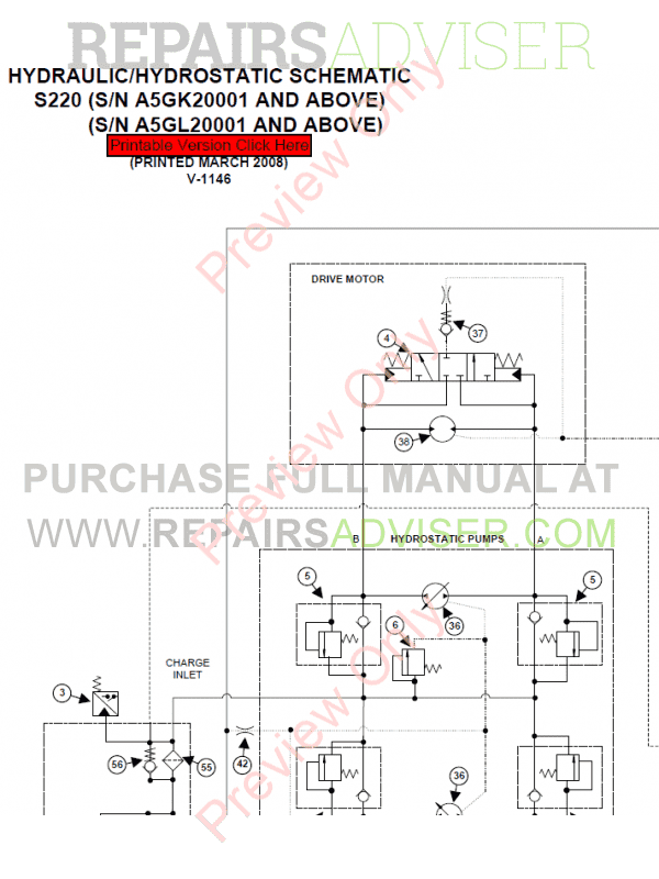 Bobcat Skid Steer Loader S220 Service Manual PDF, Bobcat Manuals by www.repairsadviser.com