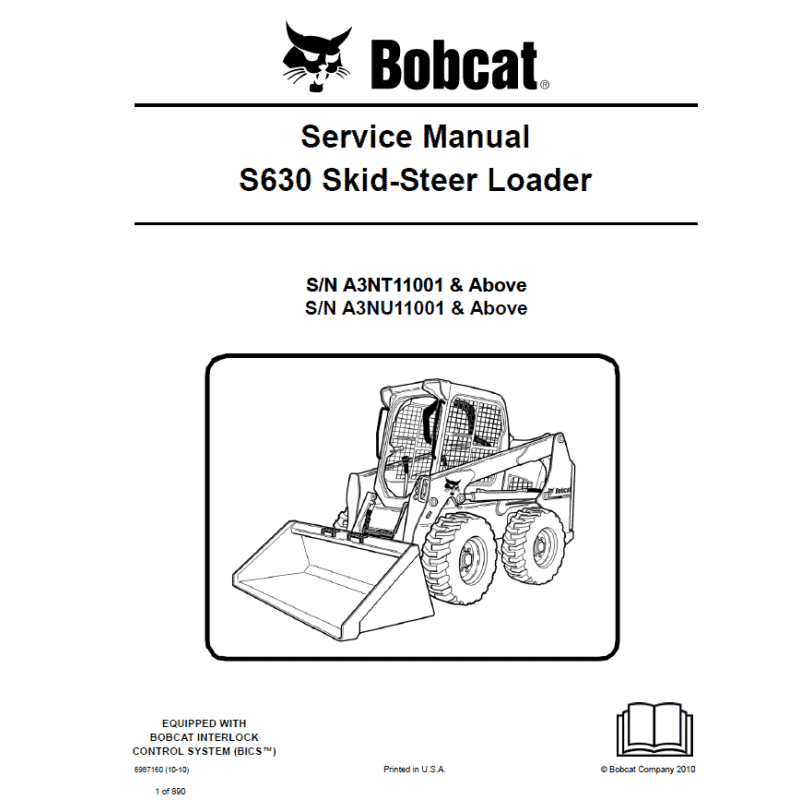 Bobcat Skid Steer Loader S630 Service Manual PDF image #1