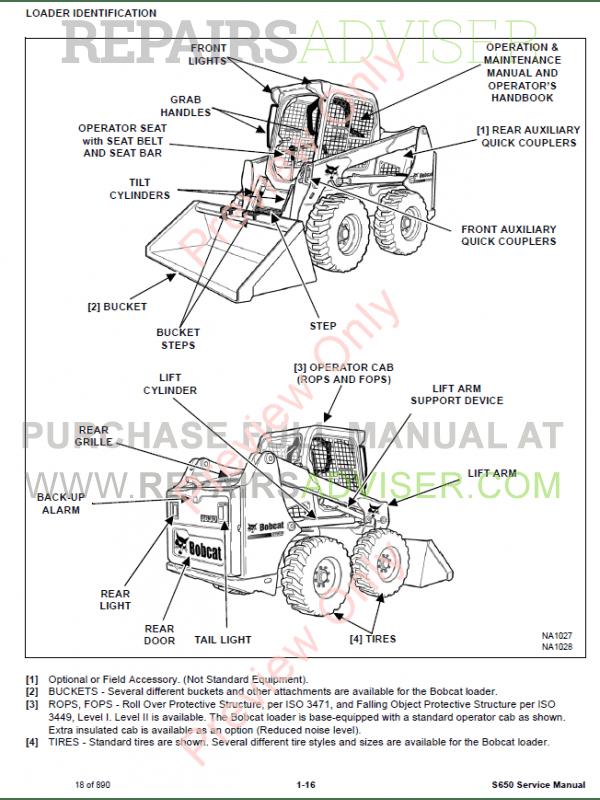 bobcat skid steer loader s630 service manual pdf, bobcat manuals by  www repairsadviser