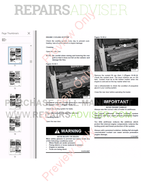 Bobcat Skid Steer Loader S70 Service Manual PDF, Bobcat Manuals by www.repairsadviser.com