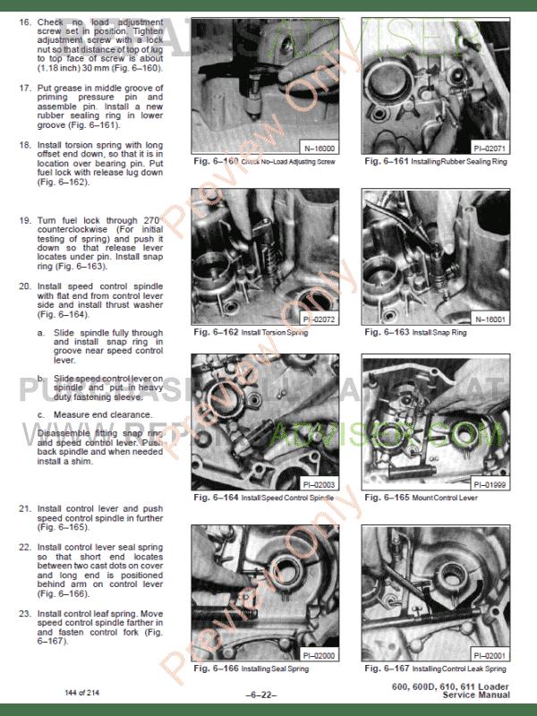 Bobcat 600 service Manual