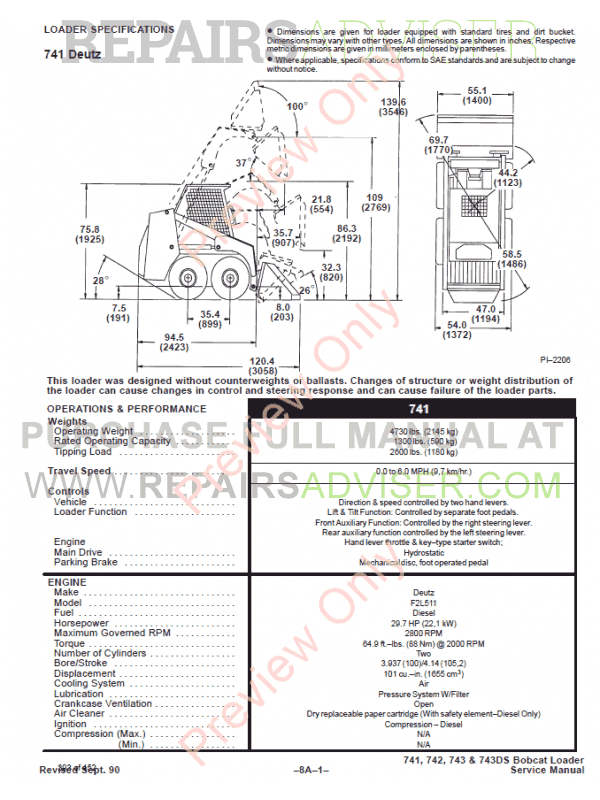 bobcat skid steer loaders 741 742 743 743ds service manual pdf bobcat skid steer loaders 741 742 743 743ds service manual pdf bobcat