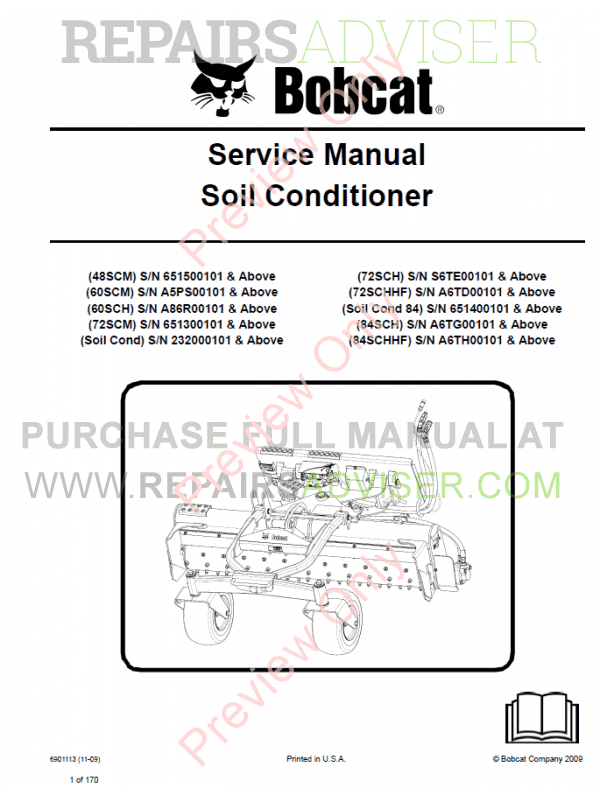 Bobcat Soil Conditioner Service Manual PDF, Bobcat Manuals by www.repairsadviser.com