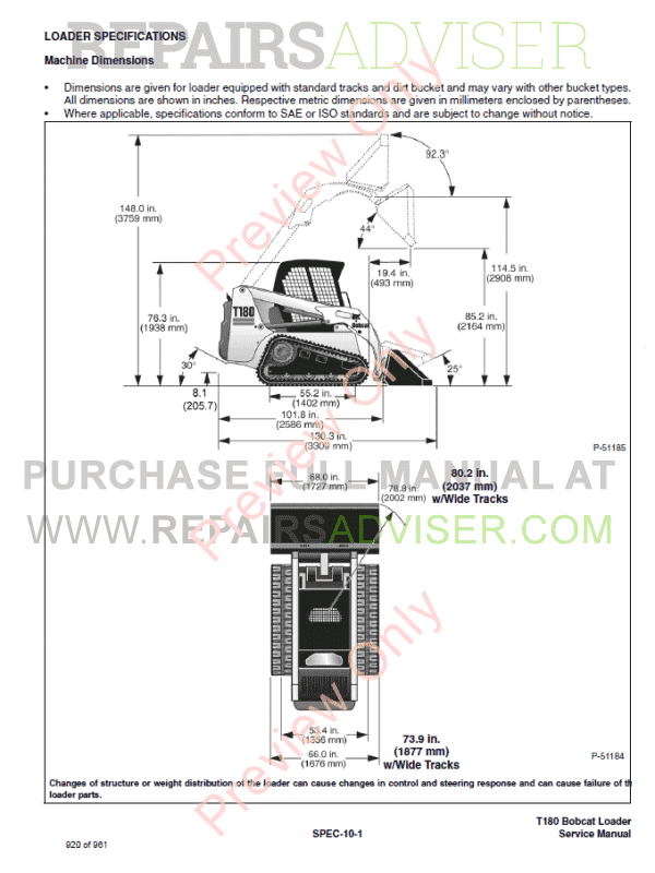 Bobcat T180 Turbo High Flow Loaders Service Manual PDF, Bobcat Manuals by www.repairsadviser.com