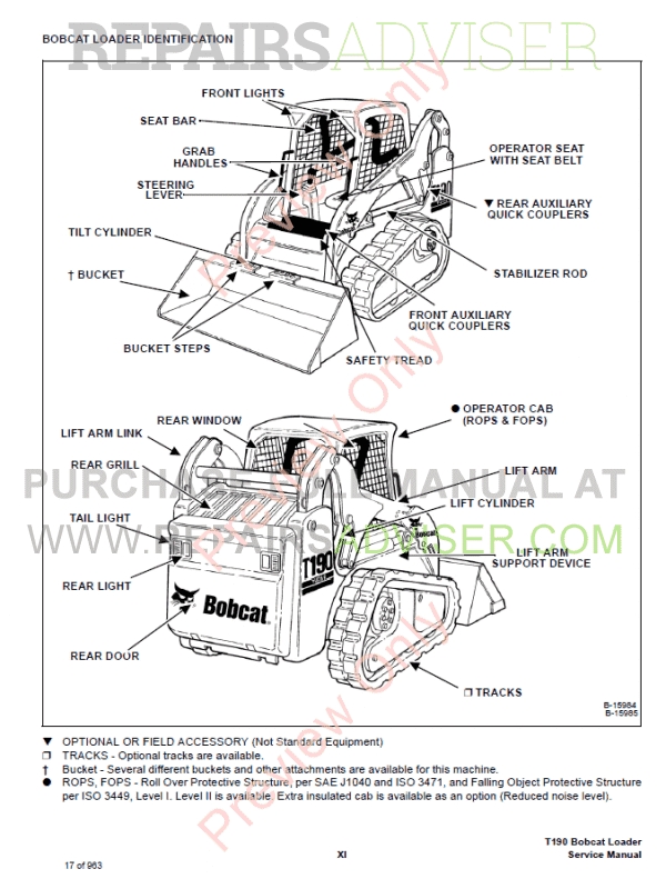 bobcat t190 turbo high flow compact track loader service manual pdf,  bobcat manuals by www