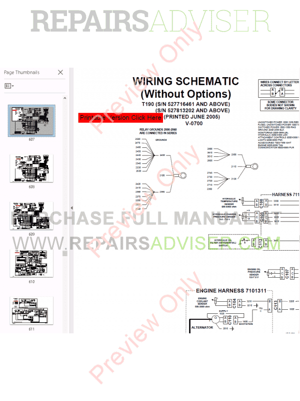 Bobcat T190 Turbo High Flow Compact Track Loader Service Manual PDF, Bobcat Manuals by www.repairsadviser.com