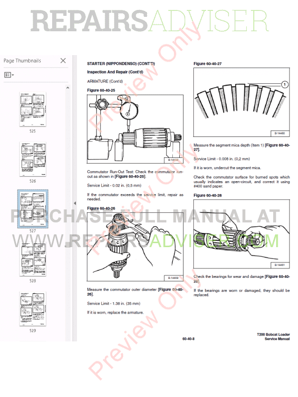 Bobcat T200 Turbo High Flow Loader Service Manual PDF, Bobcat Manuals by www.repairsadviser.com