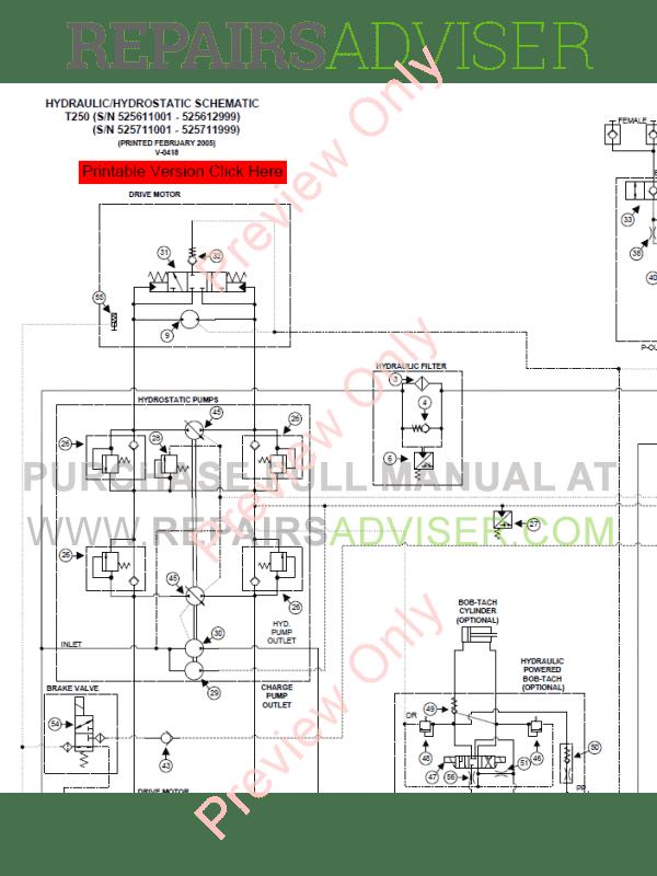 Bobcat Drive Motor Diagram
