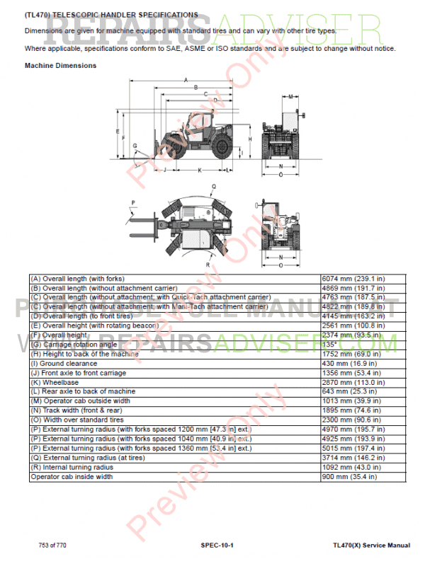 Bobcat Telescopic Handler Tl470x Service Manual Pdf