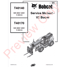 Bobcat Telescopic Handlers T T Service Manual V Boom Pdf X Product Related