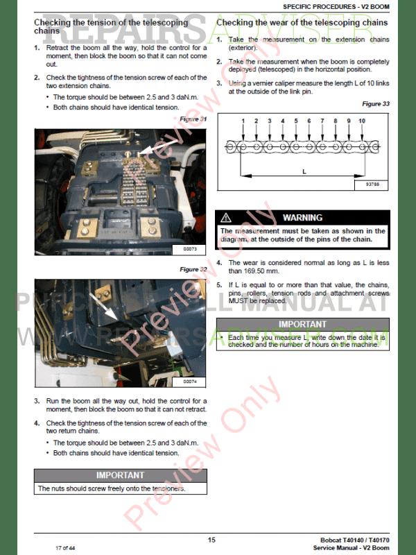 Bobcat Handlers T40140 T40170 Manual V2 Boom PDF