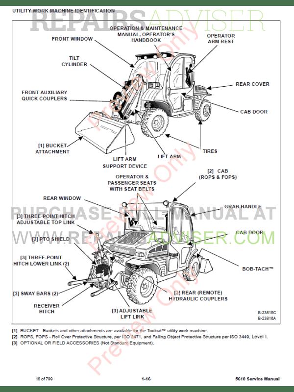 Bobcat 5610 Service Manual Toolcat