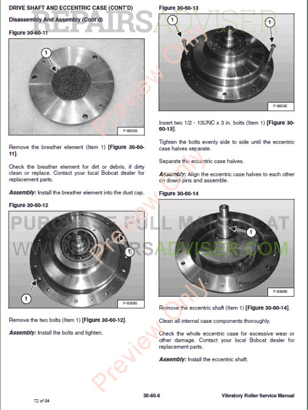Bobcat Vibratory Roller Service Manual PDF