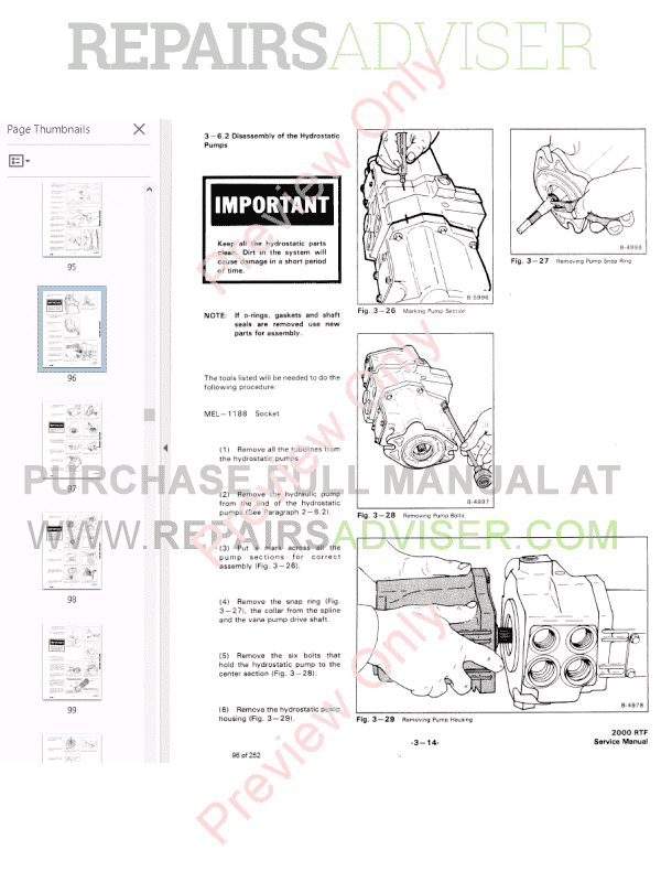 Bobcat Wheel Loader 2000 RTF Service Manual PDF, Bobcat Manuals by www.repairsadviser.com