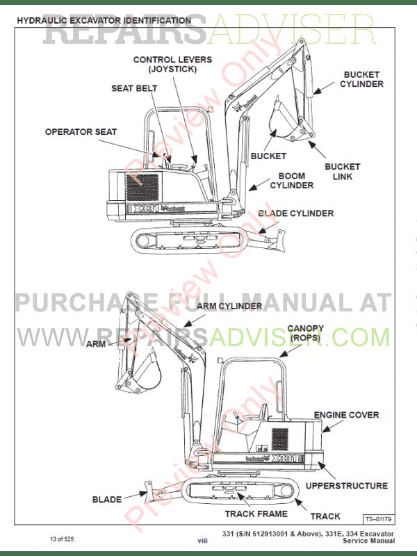 Bobcat service manual 331