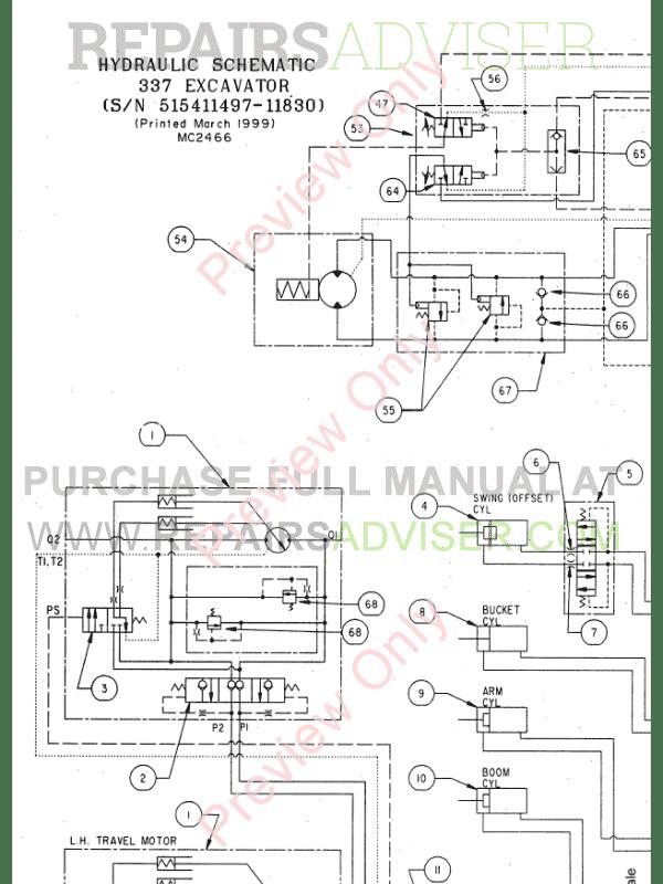 bobcat x 337 x 341 excavator service manual pdf bobcat manuals by www bobcat  pin diagram