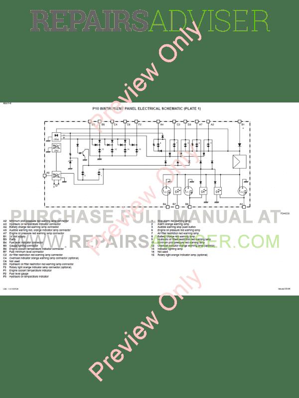 case 1188 hydraulics excavators schematic set pdf download