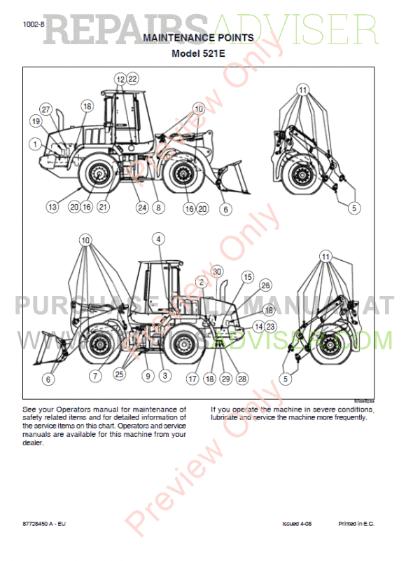 Case 521E Tier III Wheel Loader Service Manual PDF, Case Manuals by www.repairsadviser.com