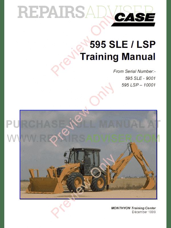Case 595 service Manual