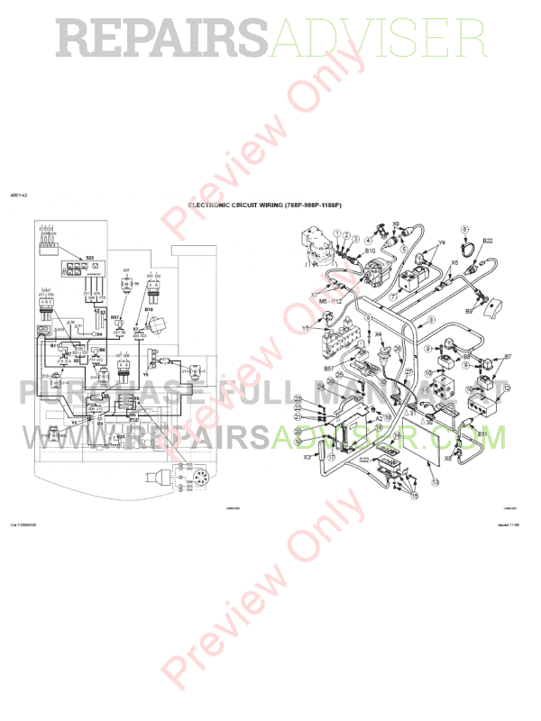case 788  788 plus  988  988 plus hydraulics excavators schematic set pdf download