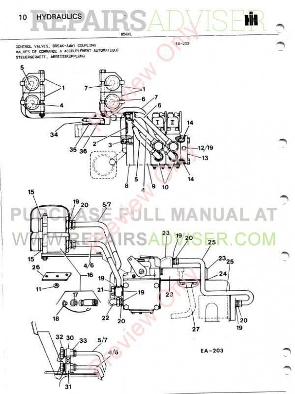 Case 856XL Tractor Parts Book PDF, Case Manuals by www.repairsadviser.com