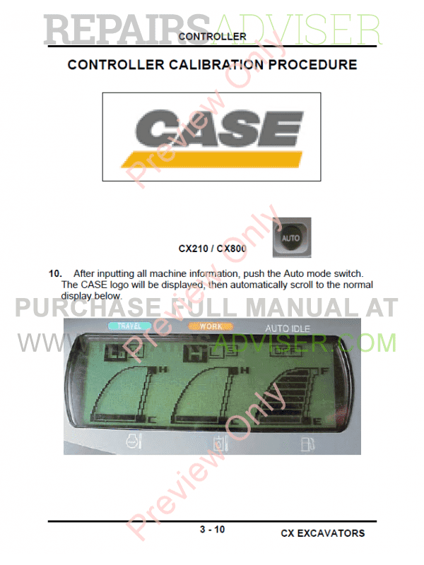 Case CX Series Excavators Service Training PDF Manual, Case Manuals by www.repairsadviser.com