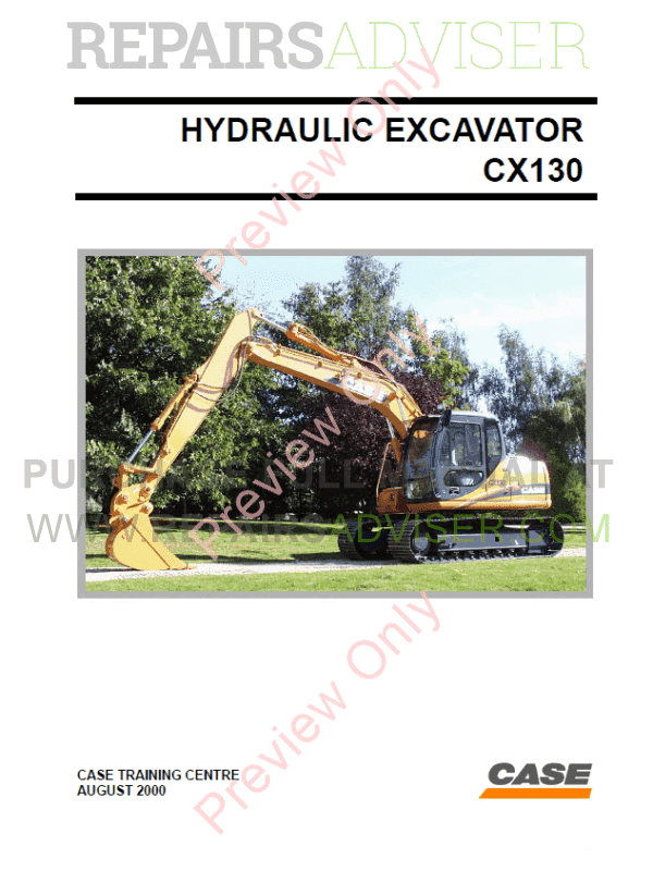 Case Cx130 Hydraulic Excavator Pdf Manual Download