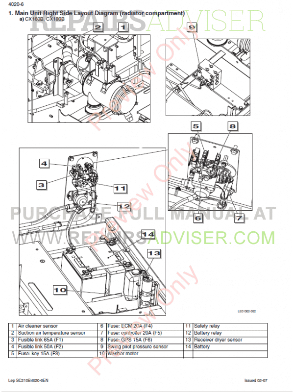 Case CX210B-CX230B-CX240B Crawler Excavators Service Manual PDF, Case Manuals by www.repairsadviser.com