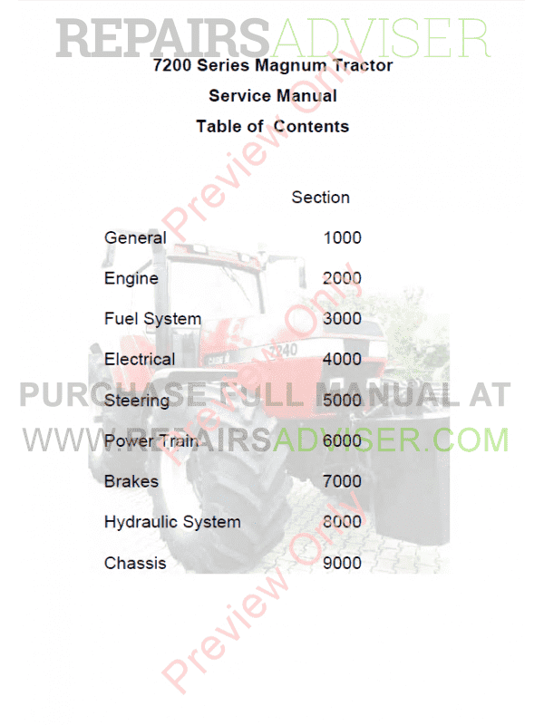 tractor 7240 service manual