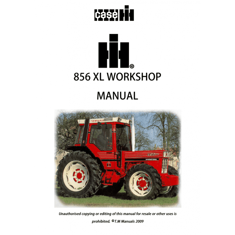 Case IH 856XL Workshop Manual PDF  image #1