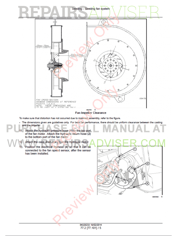 Case Precision Air 2230, 2280, 2330, 3380, 3430 Air Cart Service Manual PDF, Case Manuals by www.repairsadviser.com