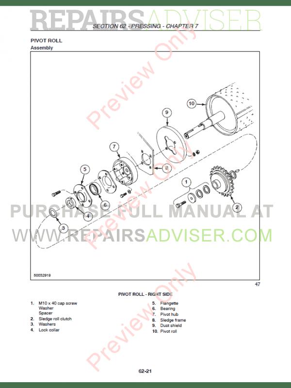 Case Round Baler RBX453-RBX563 PDF Repair Manual Download