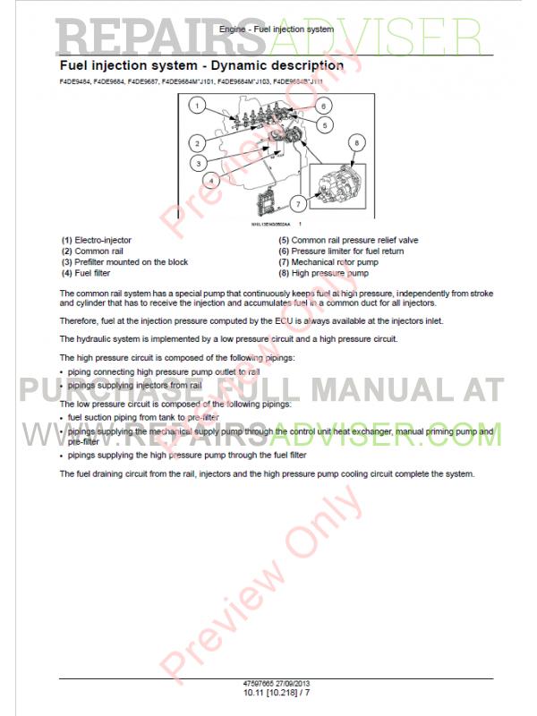 Case F4CE9484 - F4HE9687 NEF Tier 3 Engine Service Manual