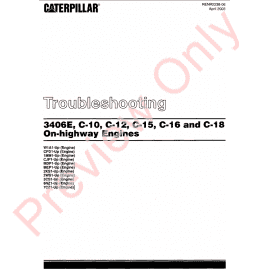 Caterpillar 3406E, C-10, C-12, C-15, C-16, C-18 On-Highway Engines Troubleshooting Manual PDF