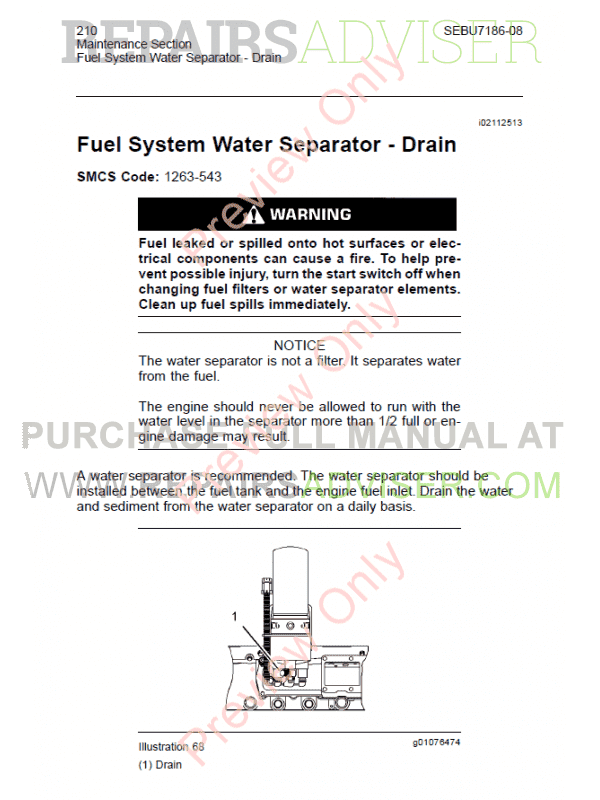 Cat 3406E, C-10-C-16 Engines Maintenance Manual PDF Download