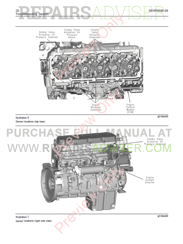 Caterpillar C11, C13, C15 On-Highway Engines Troubleshooting Manual PDF, Manuals for Trucks by www.repairsadviser.com