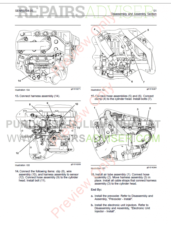 Cat C11 C13 On Highway Engines Disassembly Assembly