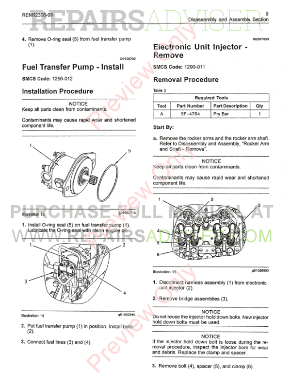 Caterpillar C-15, C-16, C-18 Truck Engines Disassembly and Assembly Manual PDF, Manuals for Trucks by www.repairsadviser.com