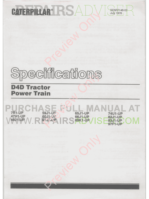 Caterpillar D4 Track-Type Tractor Set of PDF Manuals, Caterpillar Manuals by www.repairsadviser.com