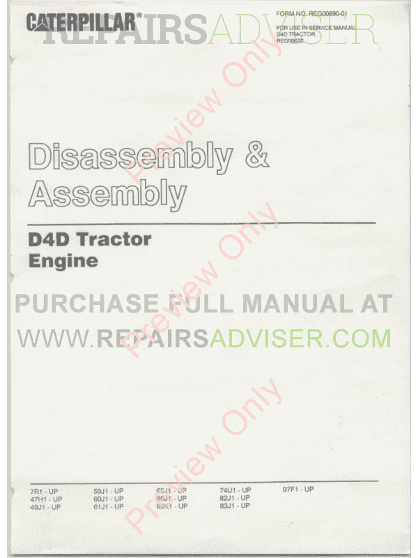 Caterpillar D4 Track Type Tractor Set Of Pdf Manuals Download