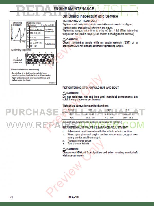 Cat K21, K25 Gasoline Engines for Mitsubishi Forklifts