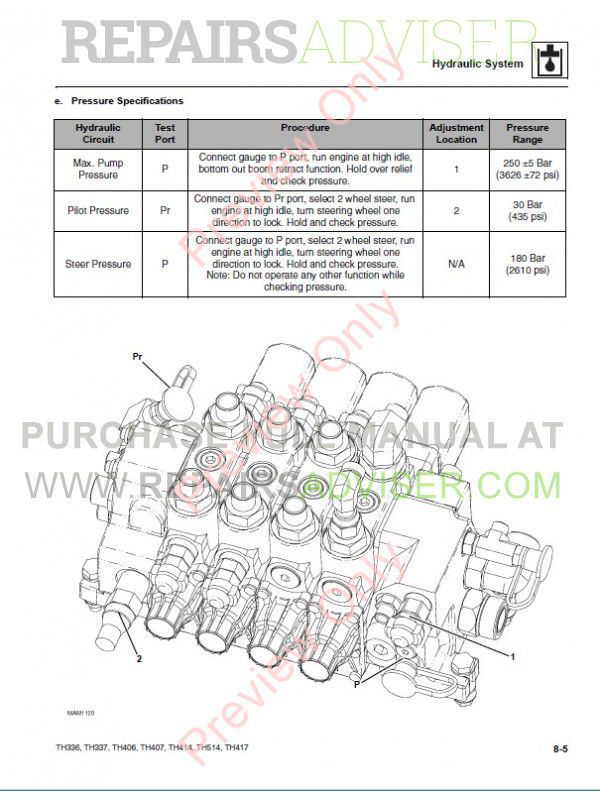 Caterpillar TH336, TH337, TH406, TH407, TH414, TH514, TH417 Telehandler Service Manual PDF, Caterpillar Manuals by www.repairsadviser.com
