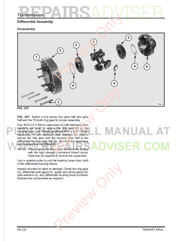 Challenger 680B Combine Service Manual PDF, Manuals for Heavy Equip. by www.repairsadviser.com