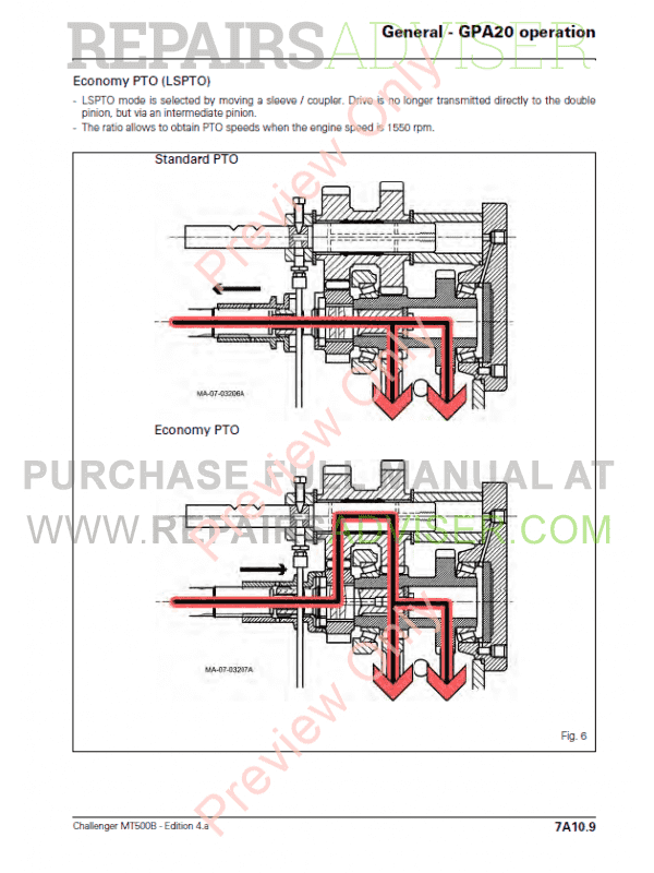 Challenger MT500B Workshop Service Manual PDF, Manuals for Heavy Equip. by www.repairsadviser.com