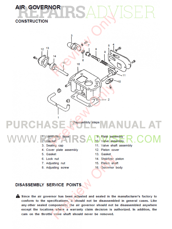 Clark SF20-30D/L/G, CMP20-30D/L/G Lift Trucks SM-711 Service Manual PDF, Clark Manuals by www.repairsadviser.com