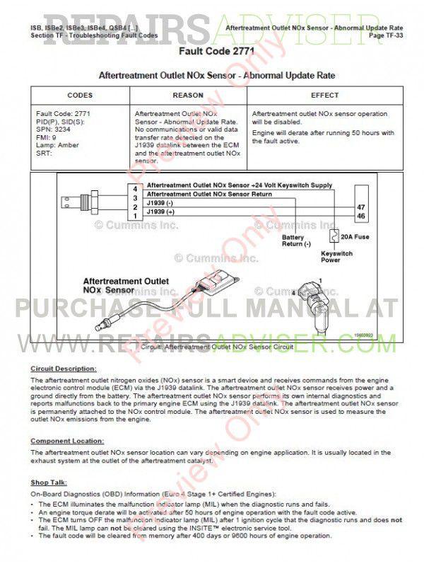 Cummins ISB/e4 QSB4 5-6 7 QSC8 3 QSL9 CM850 Repair Manual PDF