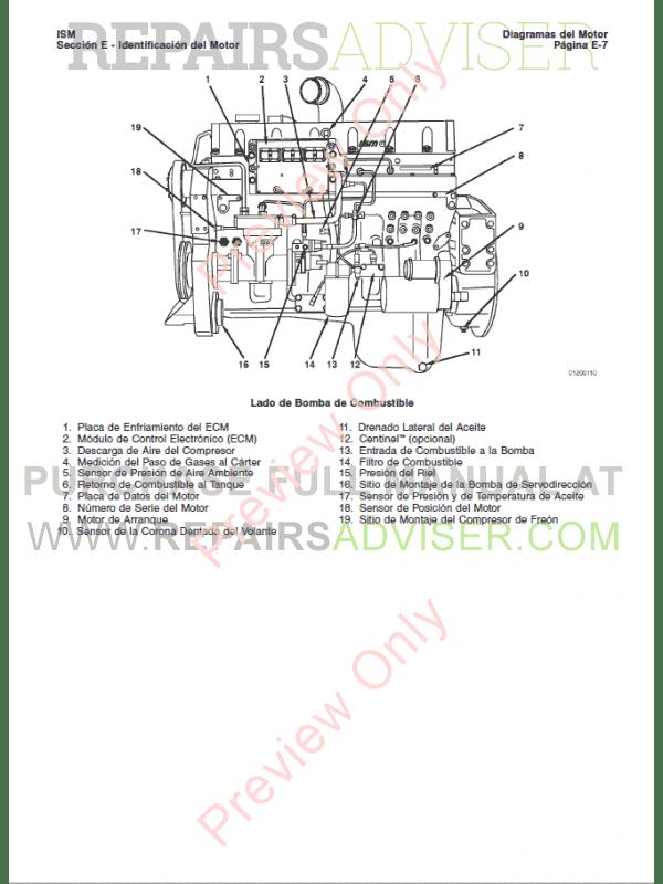 Cummins ISM / QSM11 Series Engines Repair Manual PDF Download