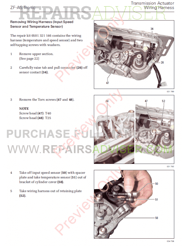 DAF AS Tronic Lite 6AS Series Components Manuals PDF