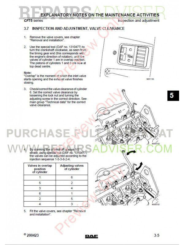 DAF Trucks Series CF65 CF75 CF85 Workshop Manual PDF, Manuals for Trucks by www.repairsadviser.com