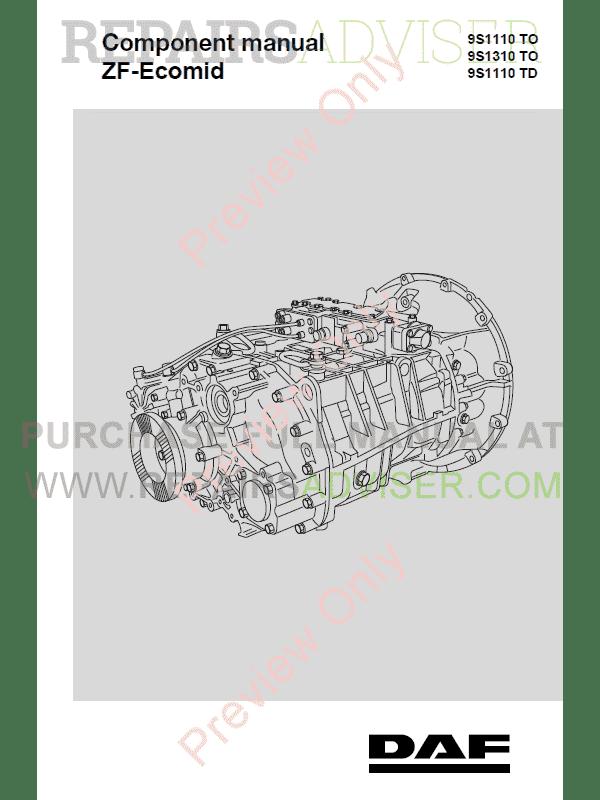 DAF ZF-Ecomid 9S series Components Manual PDF